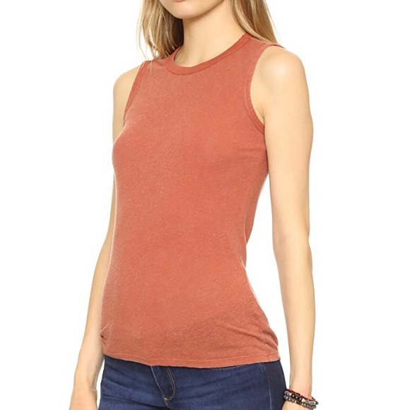 James Perse Tomboy Tank Peach Orange